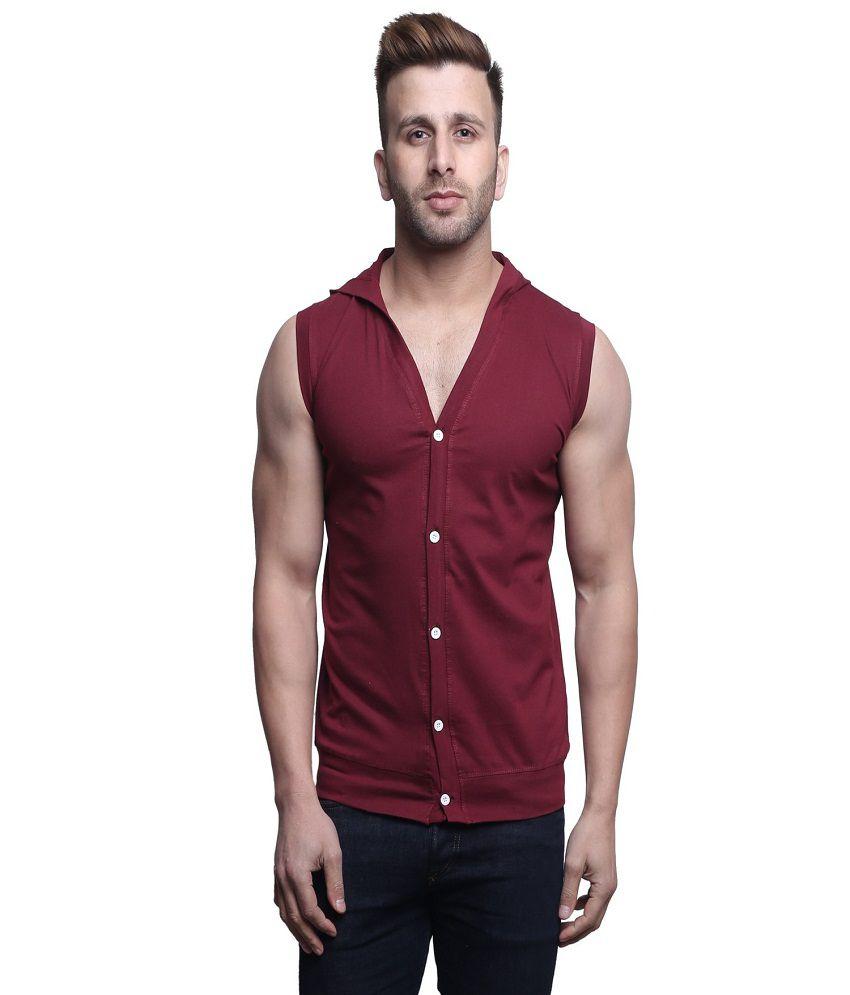 Leana Maroon Hooded T-Shirt