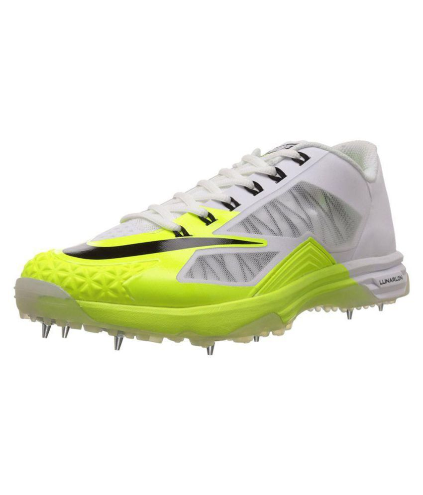 1715ef78ff29 Nike Lunar Dominate 2 White Cricket Shoes - Buy Nike Lunar Dominate 2 White  Cricket Shoes Online at Best Prices in India on Snapdeal