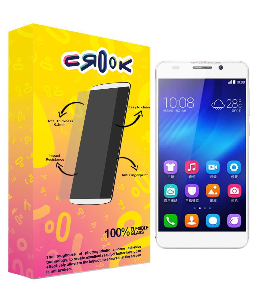 Huawei Honor 6 Tempered Glass Screen Guard By Crook