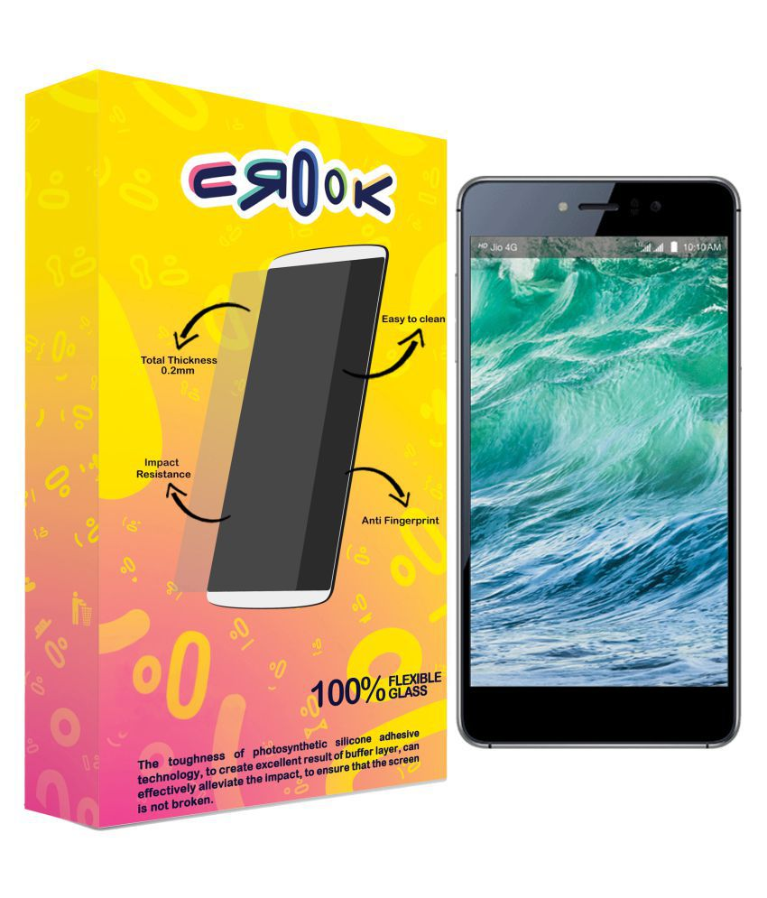 LYF Water 8 Tempered Glass Screen Guard By Crook