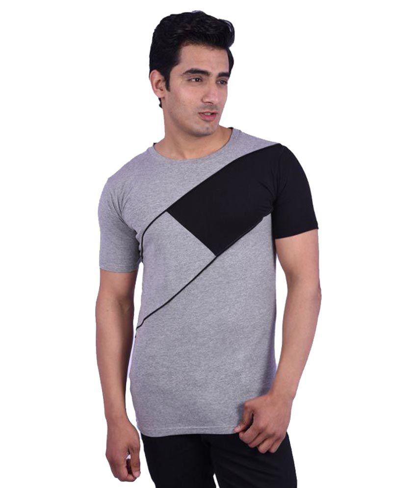 Rap Fabrics Grey Round T-Shirt