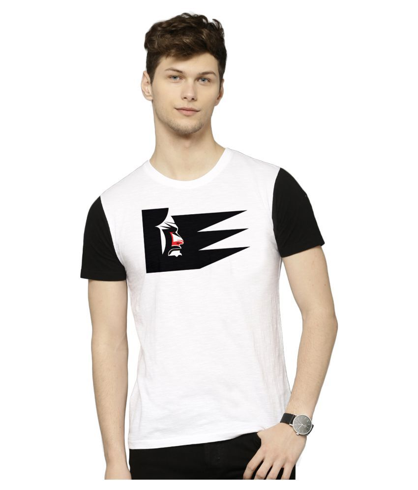 Flingr White Polyester T-Shirt Single Pack