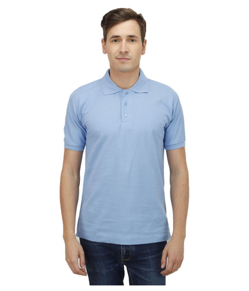 Haltung Blue Cotton Polo T-shirt