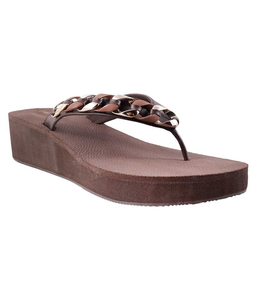 METRO BROWN Wedges Heels