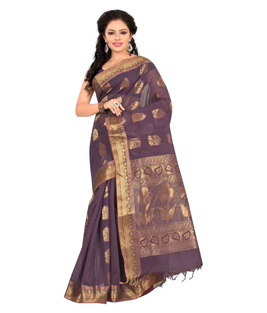 IH365 Multicoloured Cotton Blend Saree