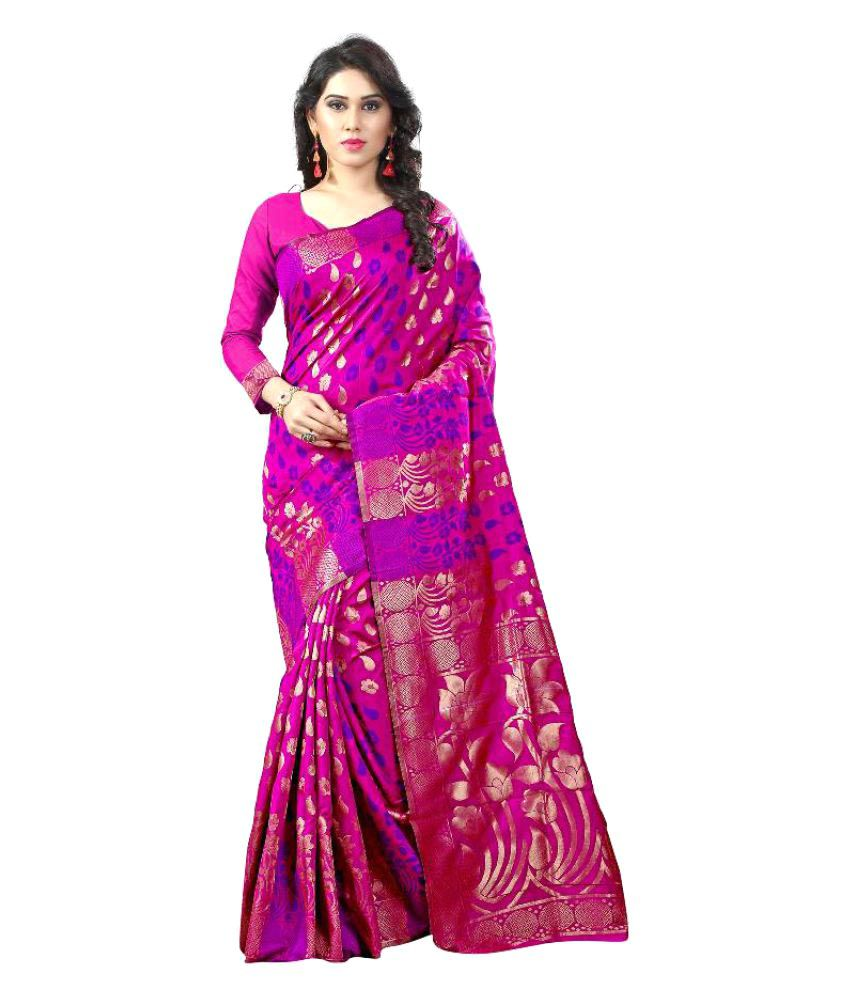 KalashreeFashion Pink Art Silk Saree