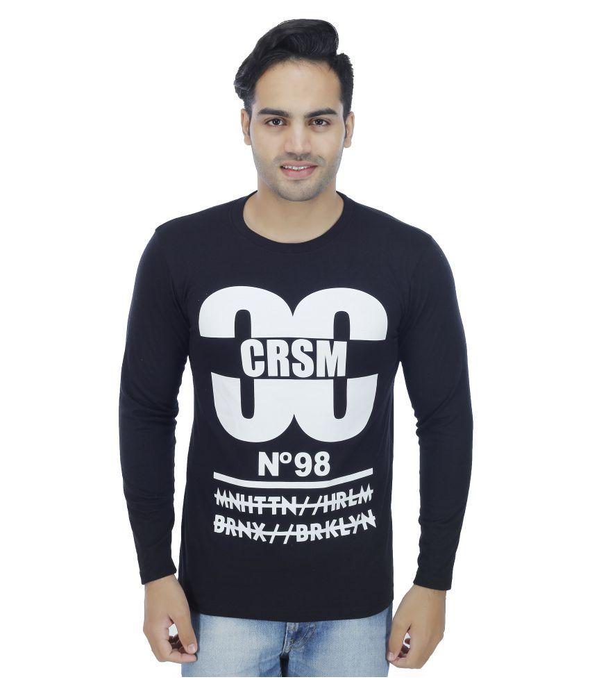 Sanvi Traders Black Round T-Shirt