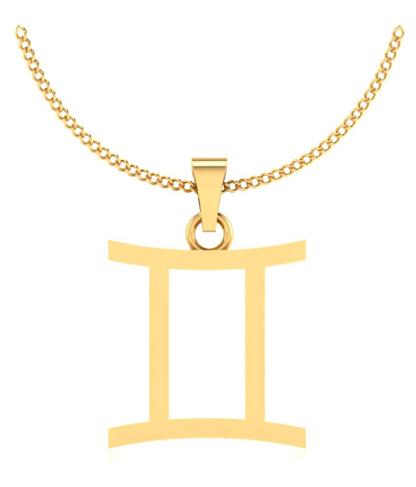 Naginabyiskiuski 14k Yellow Gold Pendant