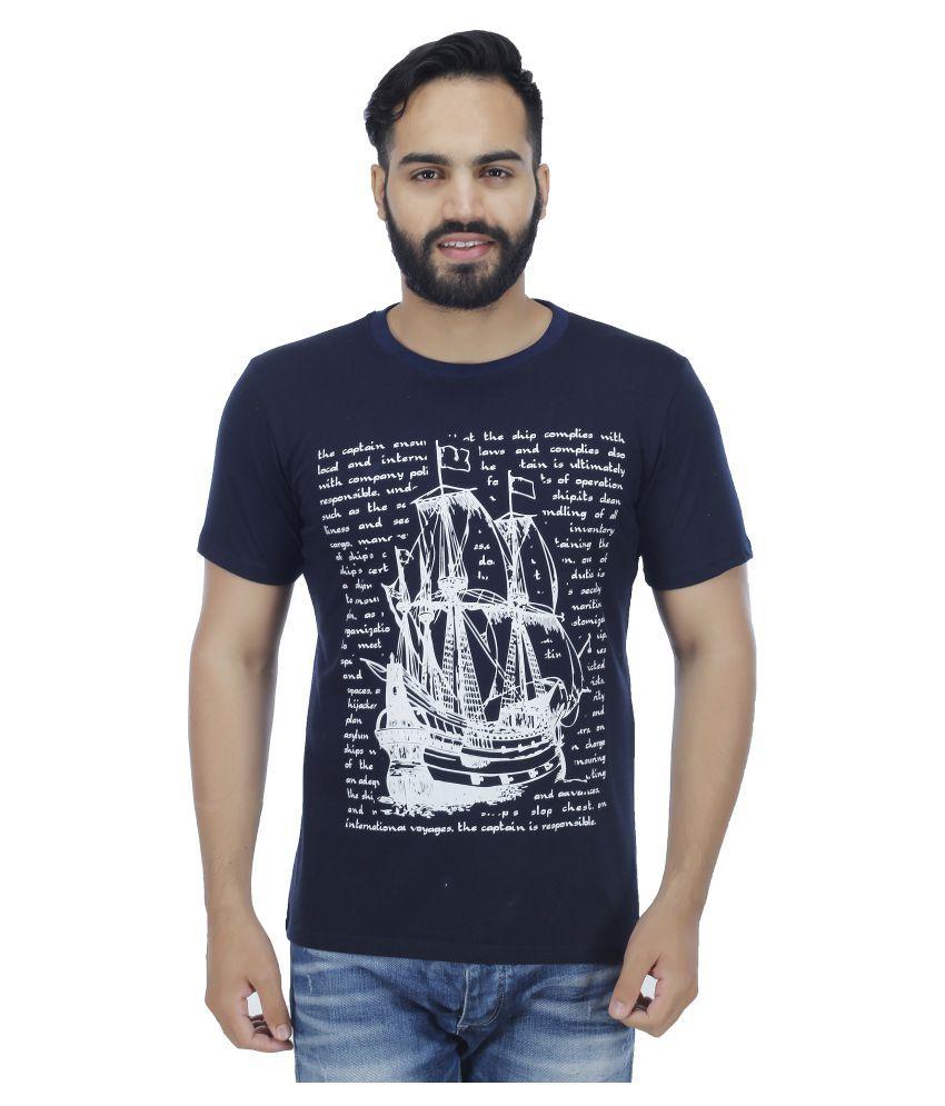 Sanvi Traders Navy Round T-Shirt