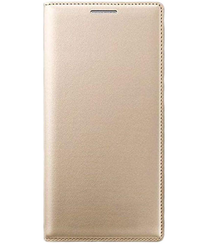 Micromax Canvas Selfie 4 Flip Cover by KTC - Golden