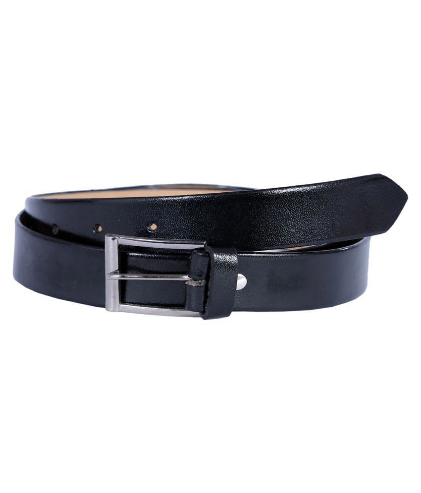 Kritika's World Black Faux Leather Casual Belts