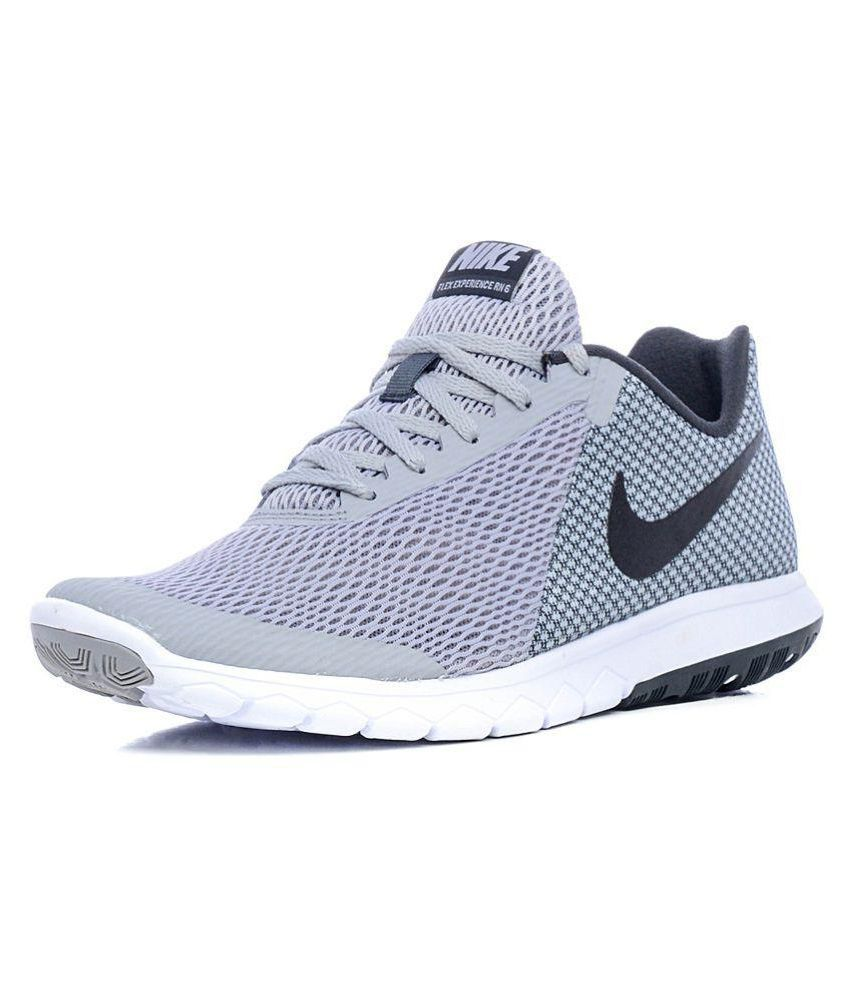 Nike Flex Experience RN 6 Gray Running Shoes ...