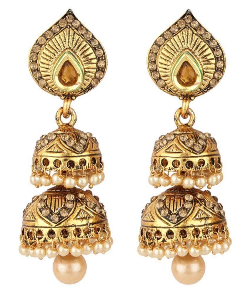 Jewels Guru Golden Jhumki