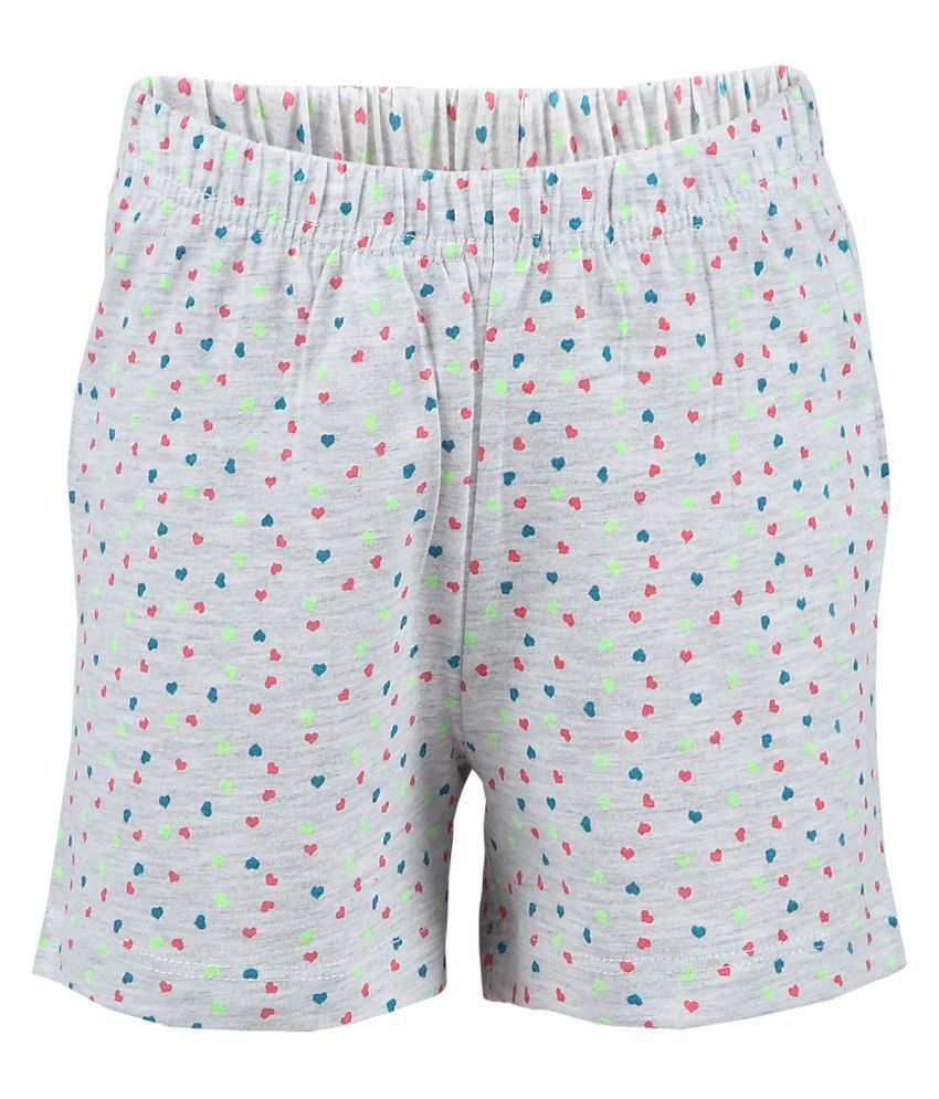Pink & Blue Printed Girl's Shorts