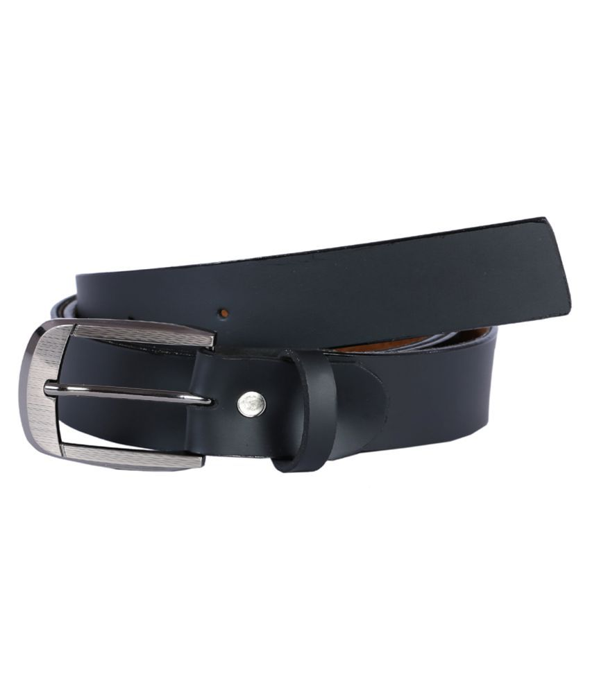 Hardys Collection Black Faux Leather Casual Belts