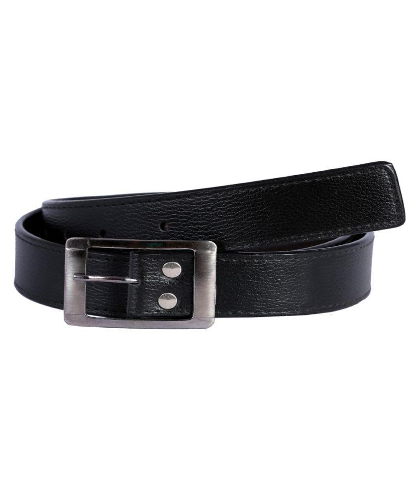 Kritika's World Black Faux Leather Casual Belts