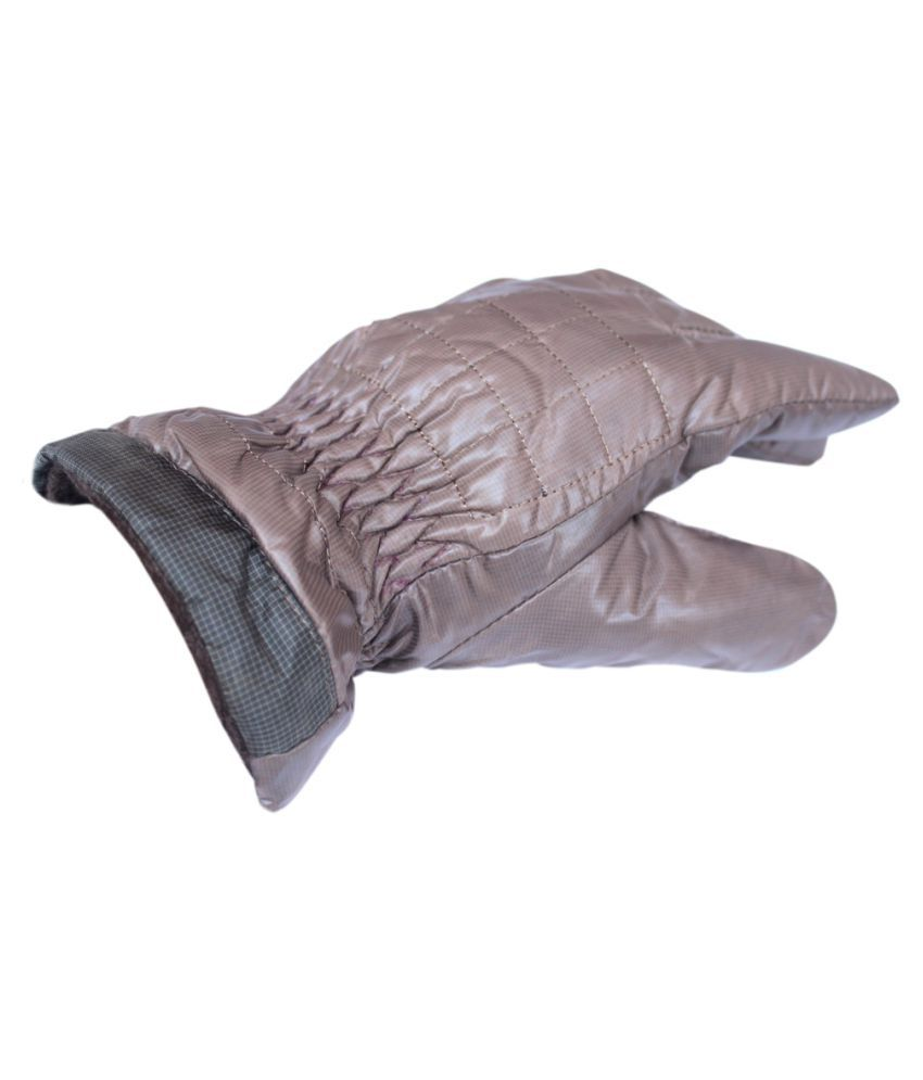 Mens leather gloves online india -  Brown Winter Artificial Leather Gloves For Men