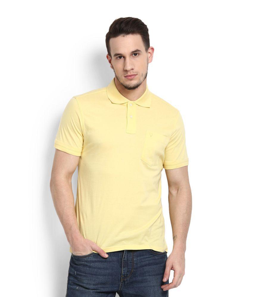 Allen Solly Yellow Polo T-Shirt