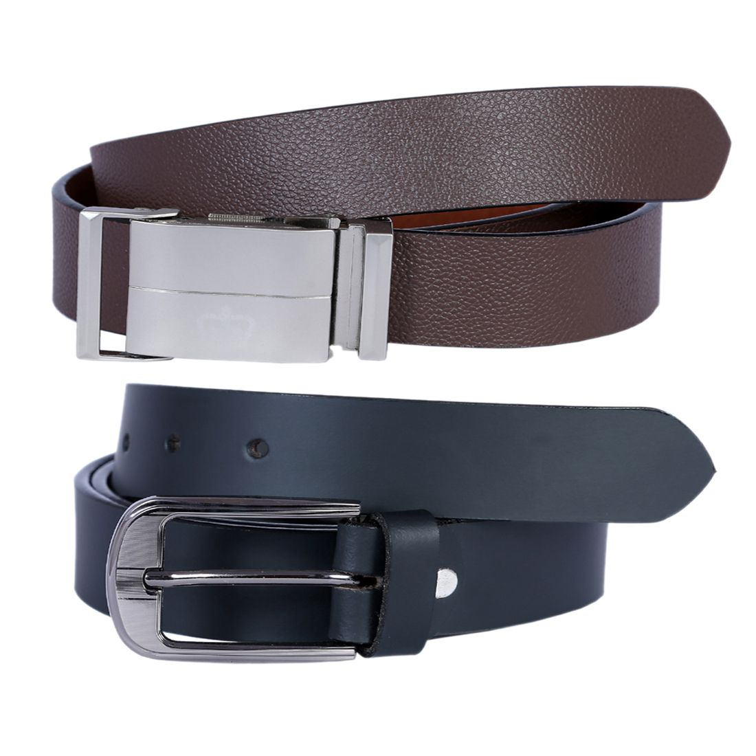 Kritika's World Multi Leather Casual Belts - Pack of 2