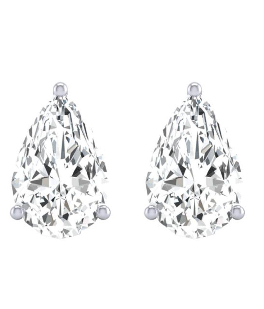 Diamond Farm 14k BIS Hallmarked White Gold Diamond Studs
