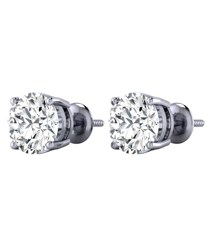 Diamond Farm 18k BIS Hallmarked White Gold Diamond Studs