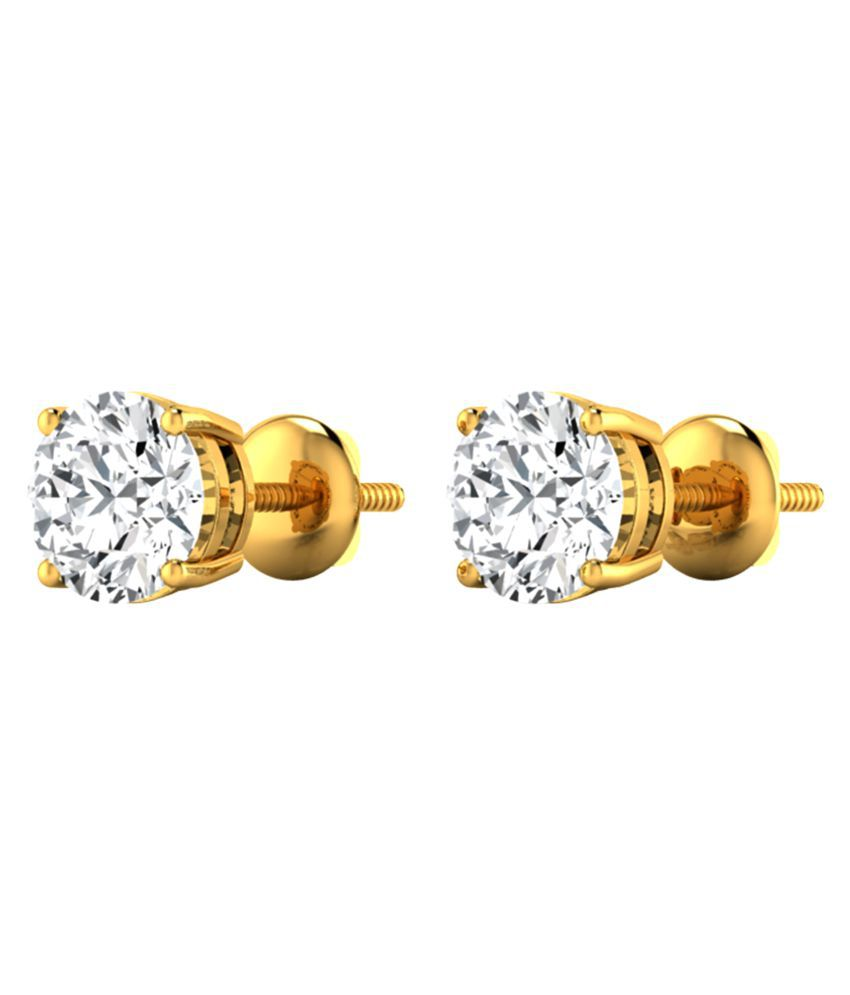 Diamond Farm 14k BIS Hallmarked Yellow Gold Diamond Studs