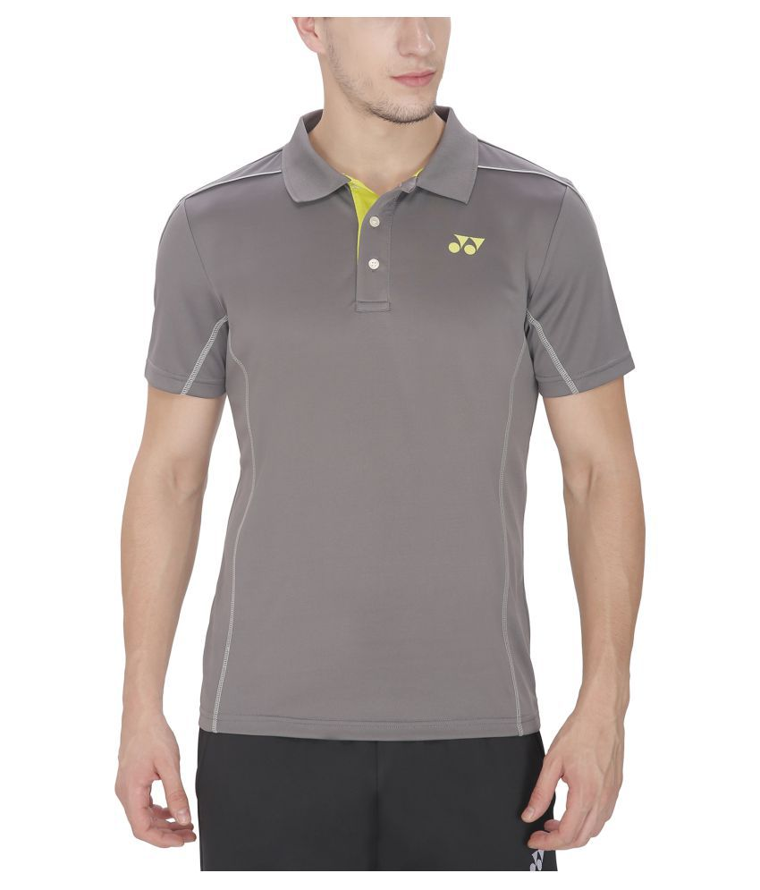 Yonex Grey Polo T-shirt