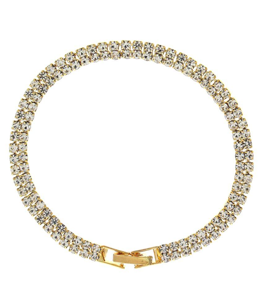 Anuradha Art Golden Bracelet