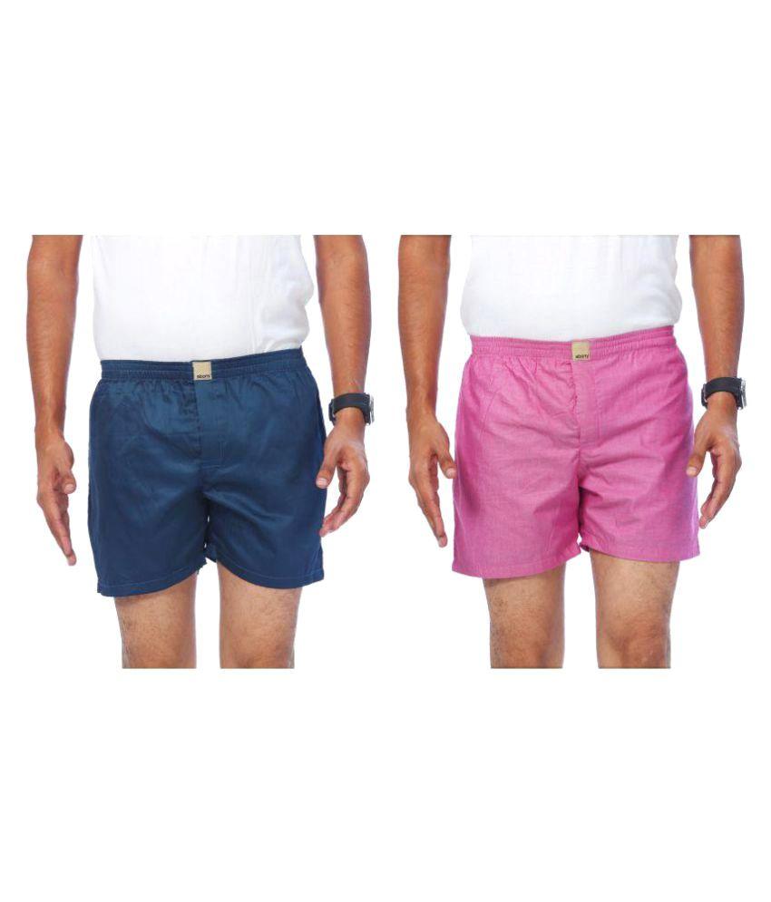 Abony Multi Shorts Combo of 2