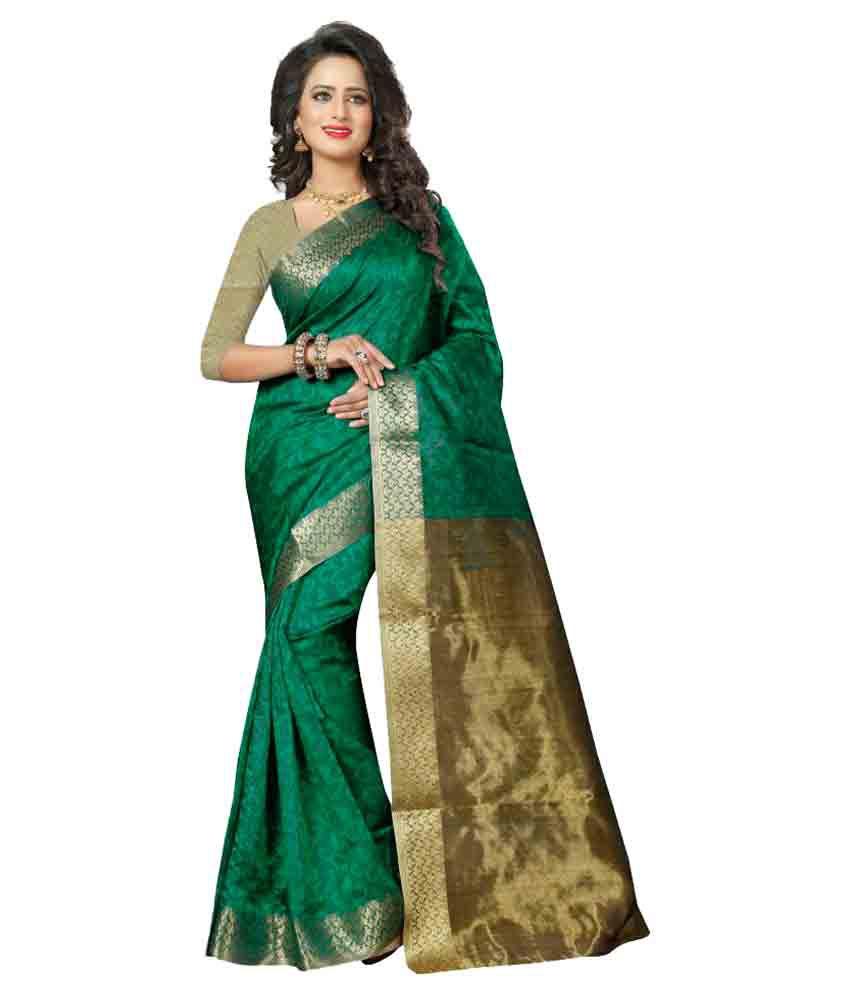 Fashion Fanda Green Kanchipuram Saree
