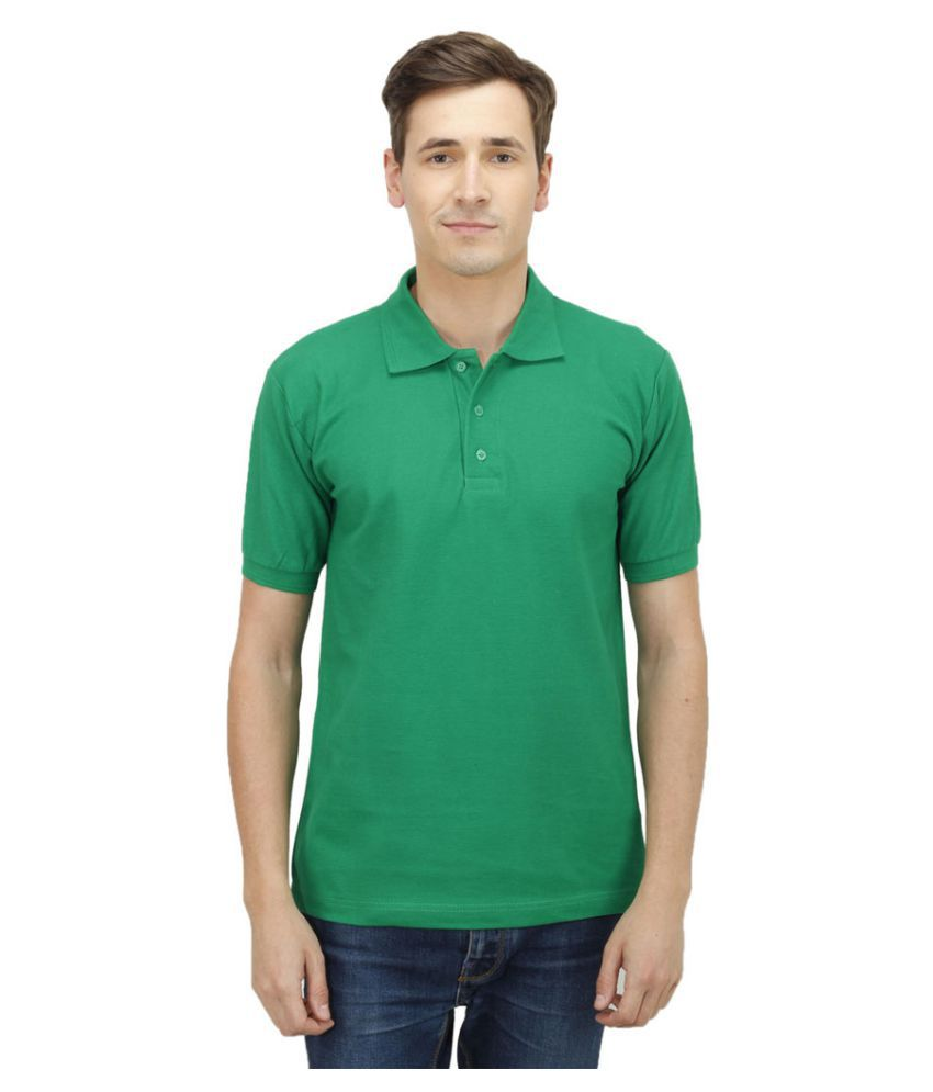 Haltung Green Cotton Polo T-shirt
