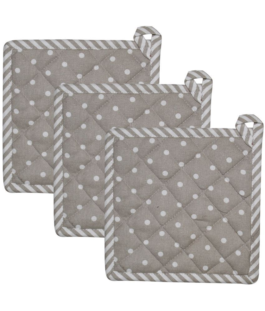 Airwill Cotton Designer Printed Pot Holders (Pack of 3 Pcs)