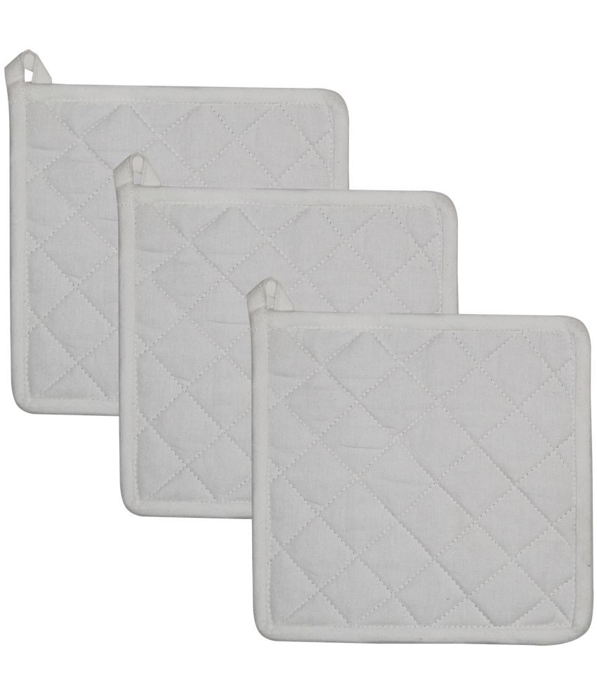 Airwill Gray Cotton Yarn-Dyed Pot Holders - Pack of 3