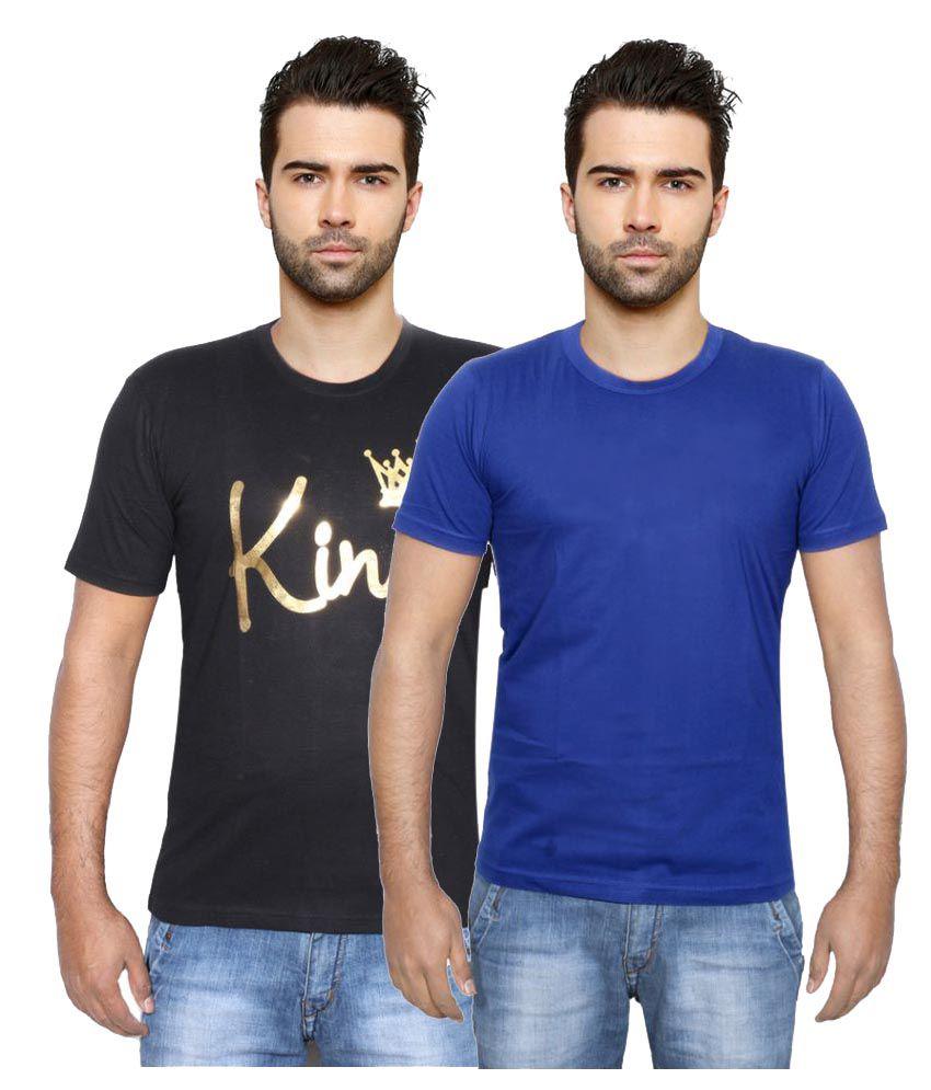 Indiweaves Multi Round T-Shirt Pack of 2