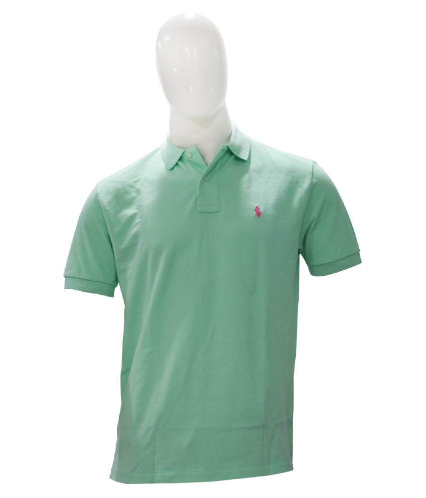 Ralph Lauren Polo Green Cotton Polo T-shirt