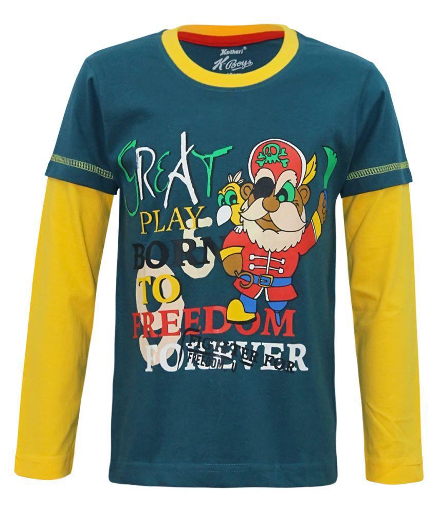 Kothari Boys Green T Shirt