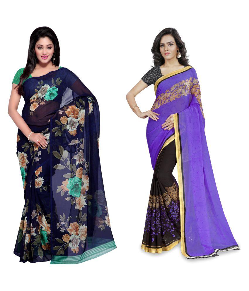 Anand Sarees Multicoloured Cotton Saree Combos