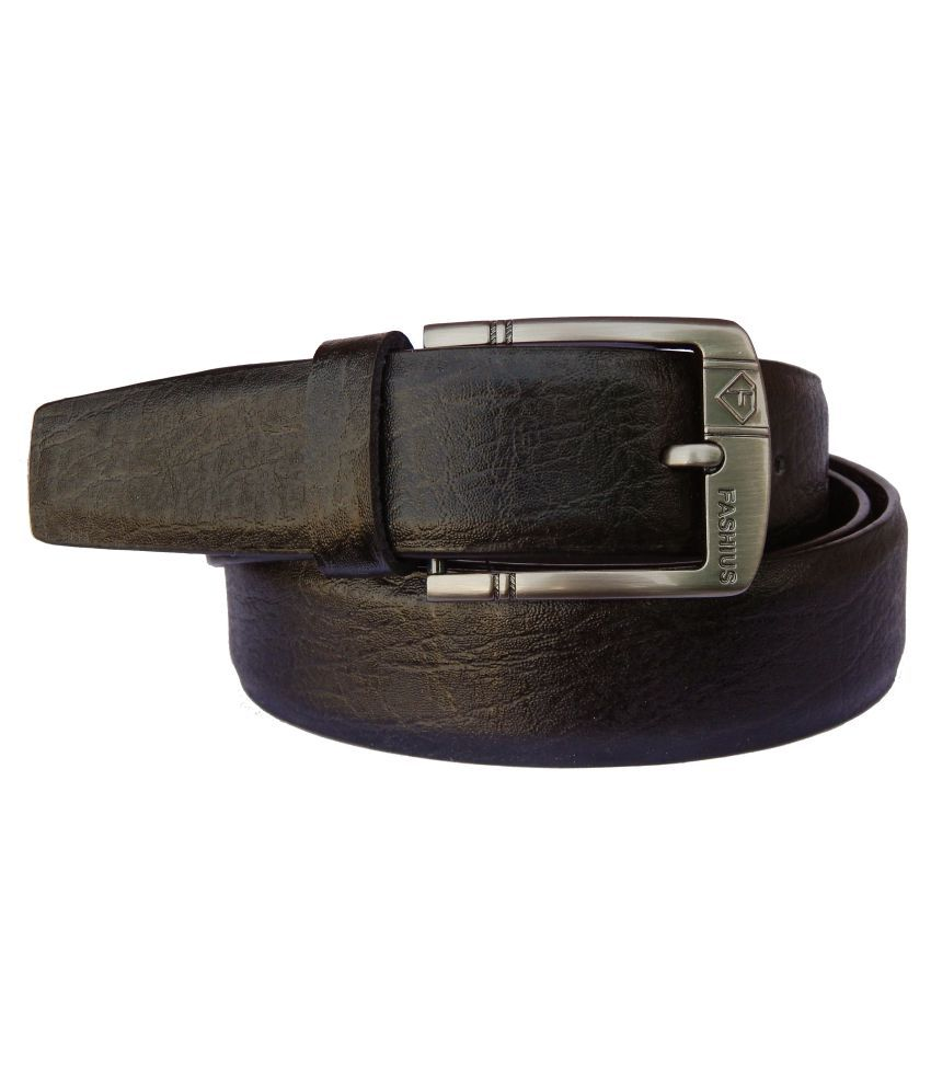 Fashius Black PU Formal Belts
