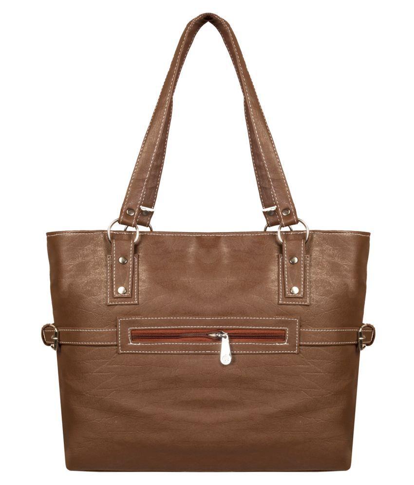 Louise Belgium Brown Faux Leather Shoulder Bag