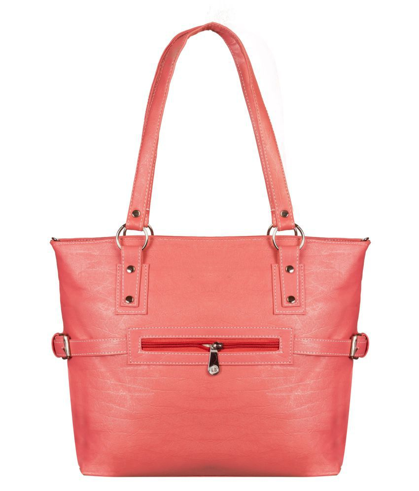 Louise Belgium Pink Faux Leather Shoulder Bag