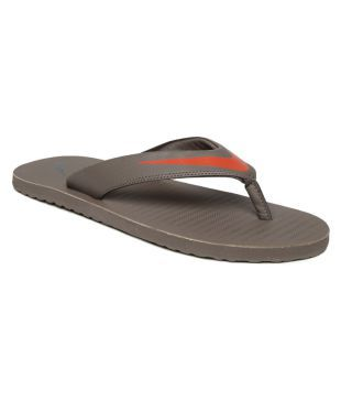 1f688cd71cc0 Nike CHROMA THONG 5 Slippers Nike Mens Chroma Thong 5 Wolf Grey Cedar-Khaki Flip  Flops Sandals-10 U..