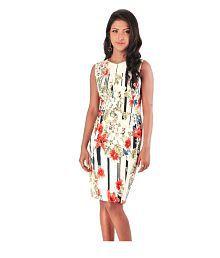 Sassy Stripes Poly Viscose Dresses