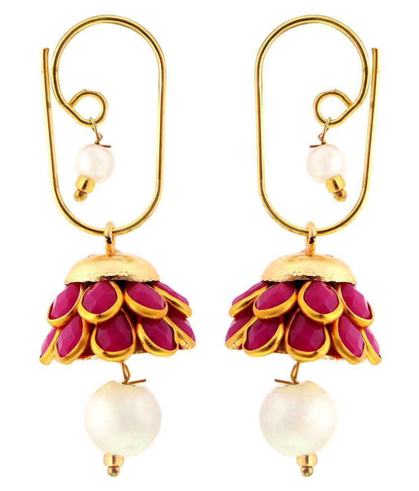 Urshop Traditional Rajasthani Brass Drop Earrings