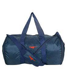 Gene Blue Large Nylon Gym Bag
