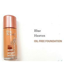 Blue Heaven Make Up Liquid Foundation Oil Free Cream Beige 30 Ml Pack Of 4