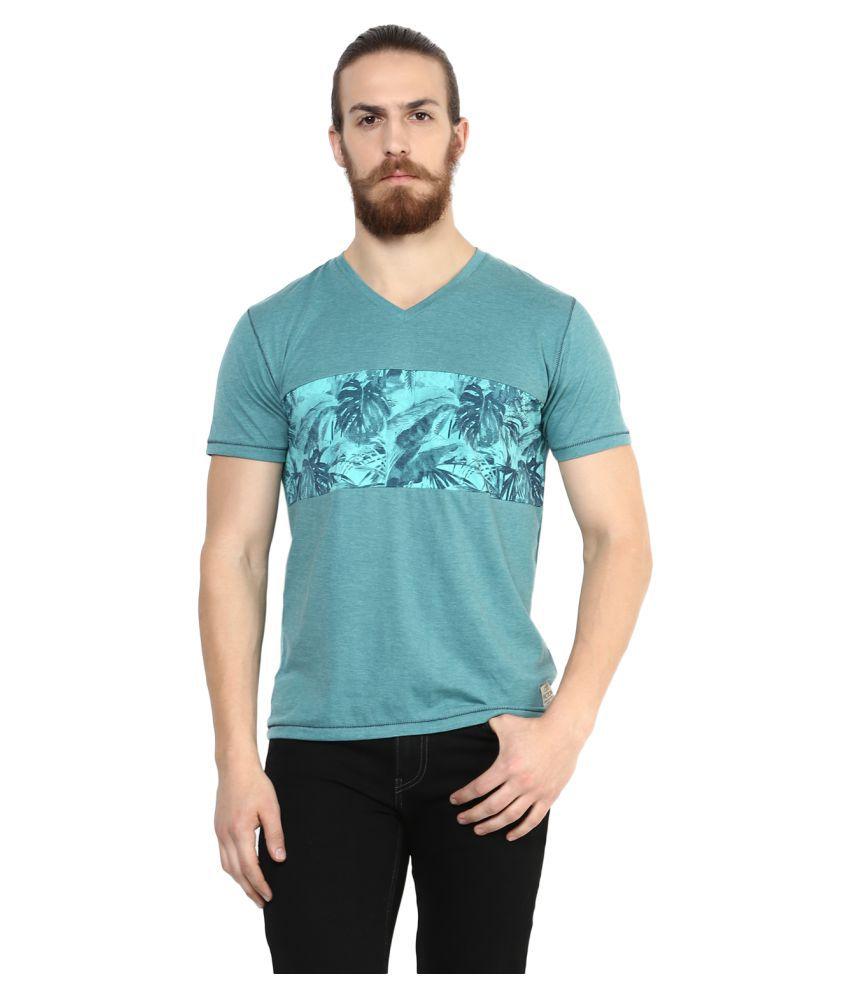 Cult Fiction Green V-Neck T-Shirt