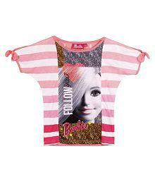 Barbie Multicolour T-shirt for Girls