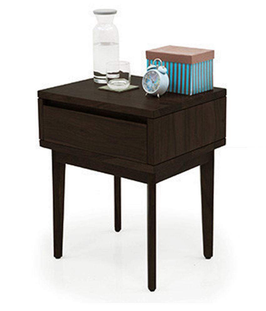 Inhouz Vherine Solid Wood Bedside Table