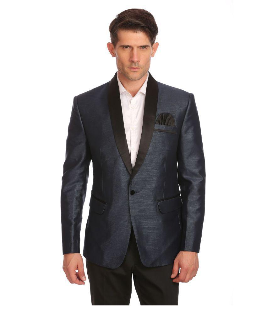 Wintage Grey Solid Festive Blazers