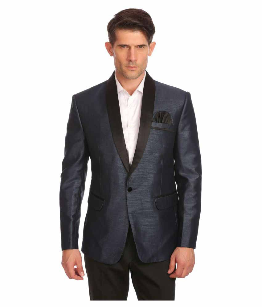 Wintage Grey Solid Party Blazers